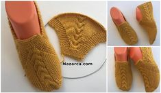 Although of female - knitting Knitted Booties, Baby Booties, Tunisian Crochet, Knit Crochet, Diy Crochet Slippers, Baby Knitting Patterns, Crochet Patterns, How To Make Shoes, Cross Stitch Flowers