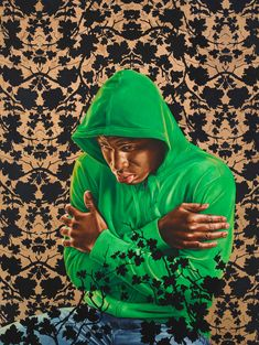 Kehinde Wiley Kehinde Wiley's portraits of African American men collate modern culture with the influence of Old Mast. African American Artist, American Artists, Kehinde Wiley, African Paintings, Africa Art, Portrait Art, Color Portrait, Portraits, Portrait Paintings