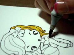Copic Coloring Tutorial - Blonde hair