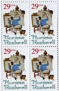 Norman Rockwell Plate Block Set of 4 x 29 cent US Postage Stamp Scot #2839…