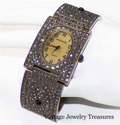 Heidi Daus Once Upon A Time Smoky Grey Crystal Bracelet Watch New HSN #HeidiDaus #LuxuryDressStyles