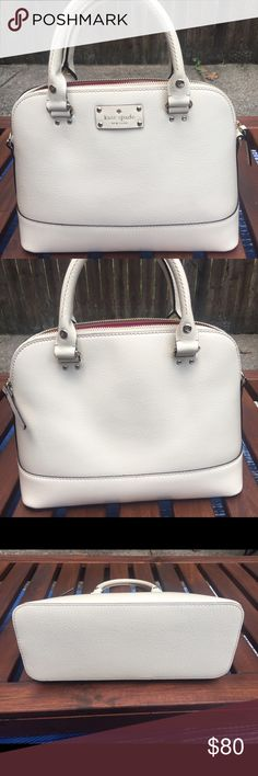 Kate Spade Wellesley small beige with strap Kate Spade Wellesley bag, small, cream color with strap kate spade Bags Satchels