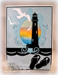 Dar's Crafty Creations: Sunset at the Shore for Dies R Us