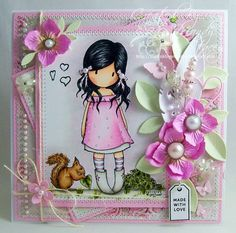 OOAK Gorjuss Girl Handmade Card by ASprinklingOfGlitter on Etsy