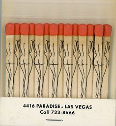 matchbook-las vegas-strip - bring me coffee or tea Gothabilly, Desenho Tattoo, Light My Fire, Burlesque, Packaging Design, Vintage Packaging, Las Vegas, Illustration Art, Illustrations