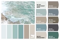 Instantly turn any picture into a palette with ColorSnap, created for you by Sherwin-Williams. Beach House Colors, Coastal Paint Colors, Interior Paint Colors, Paint Colors For Home, Beach House Decor, Aqua Color Palette, Beach Color Palettes, House Color Palettes, Paint Color Schemes