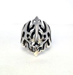 Sterling Silver SKULL Ring All Size Style Heavy Biker by Thaistay