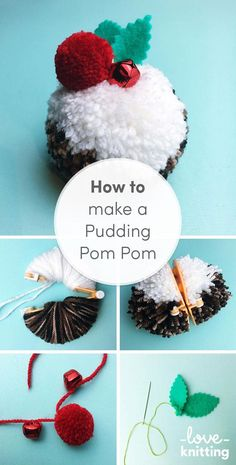 Pompom expert Christine Leech from theSew Yeahblog shows you how to craft an amazing pompom #christmas pudding. Find this free tutorial to decorate your Christmas tree on the LoveKnitting blog!