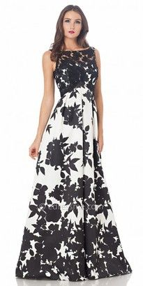 Carmen Marc Valvo Infusion Floral Print A Line Prom Dress #prom