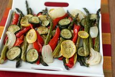 Classic Roasted Vegetables looks delicious! Lasagna Sides, Lasagna Side Dishes, Vegetable Side Dishes, Vegetable Recipes, Good Food, Yummy Food, Campfire Food, Roasted Vegetables, Veggies