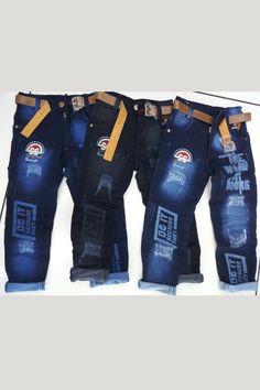 Kids Pants, Boys Jeans, Jeans Pants, Denim Jeans, Latest Boys Fashion, Boy Fashion, Printed Denim, Western Wear, Kids Boys