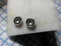 Irregular silver stud earrings
