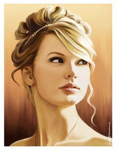Celebrity Portrait Illustration - Taylor Swift