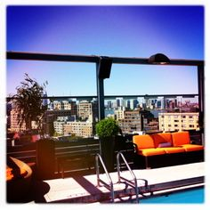 #rooftoppool with a gorgeous view at Gansevoort Meatpacking NYC