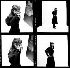 Audrey Hepburn photographed by Milton Greene for her role in Gigi on Broadway, 1951