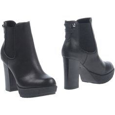 Francesco Milano Ankle Boots (3.155 RUB) ❤ liked on Polyvore featuring shoes, boots, ankle booties, black, round toe booties, black booties, chelsea boots, bootie boots and black chelsea boots