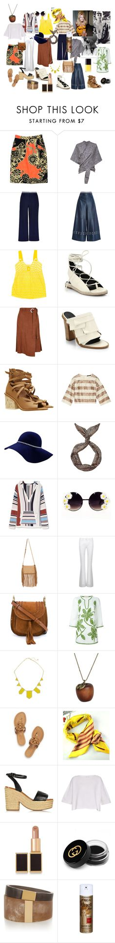 Sharon Tate by jenny-ragnwaldh on Polyvore featuring Tory Burch, Helmut Lang, TIBI, Laggo, Chloé, Isabel Marant, Emi Jewellery, House of Harlow 1960, Tom Ford and Gucci Bohemian Look, Modern Bohemian, Sharon Tate, Helmut Lang, Isabel Marant, Tom Ford, Tory Burch, Gucci, Jewellery