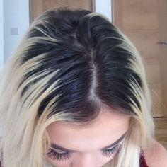 bleach blonde with dark roots - Google Search