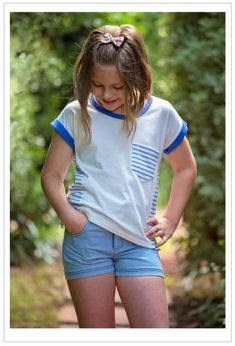 b9dea5a6c06 Girls cute summer shorts sewing pattern SANDY BAY SHORTS
