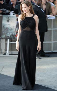 Angelina Jolie in Yves Saint Laurent.