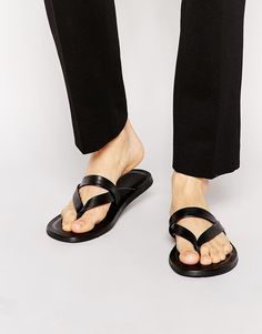 Boss Black Hampins Leather Sandals