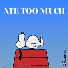 Snoopy ate too much Peanuts Cartoon, Peanuts Snoopy, Mickey Mouse, Snoopy Quotes, Peanuts Quotes, Dibujos Cute, Lucy Van Pelt, Charlie Brown And Snoopy, Snoopy And Woodstock