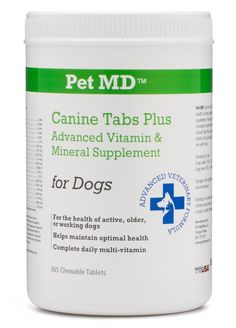 Pet MD - Canine Tabs Plus 365 Count - Advanced Multivitamins for Dogs - Vitamin and Mineral Nutritional Supplement - Liver Flavored Chewable Tablets ** Be sure to check out this awesome product.