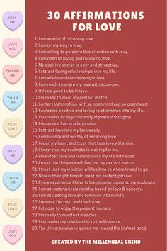 Positive Self Affirmations, Positive Affirmations Quotes, Affirmation Quotes, Affirmations For Love, Wealth Affirmations, Spiritual Manifestation, Manifestation Journal, Manifestation Law Of Attraction, Spiritual Awakening