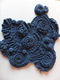 Scrambling crochet. I don't know how to make this but its cool!