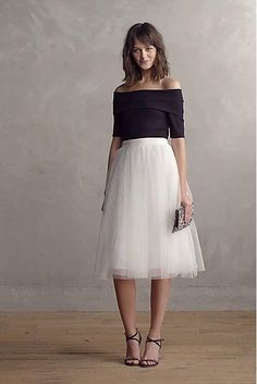 Meet Me During Intermission Midi Tulle Skirt