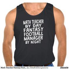 Math Teacher Fantasy Football Manager Tank Tops Tank Tops