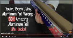 From sharpening scissors to grilling fish. this mega-list of uses of aluminum foil is amazing. [read more] Survival Tips, Survival Skills, Homestead Living, Off The Grid, Canning Recipes, Family Camping, Camping Hacks, Pantry Organization, Organizing