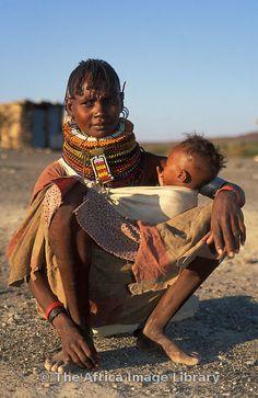Turkana woman with her baby, Kenya - BelAfrique your personal travel planner - www.BelAfrique.com