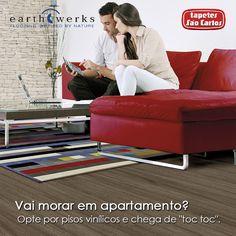 Pisos vinílicos EarthWerks Tapetes São Carlos: O melhor conforto acústico para o seu apartamento. Quer maximizar? Lance mão de tapetes Tapetes São Carlos. Coleção Tempo Clic.