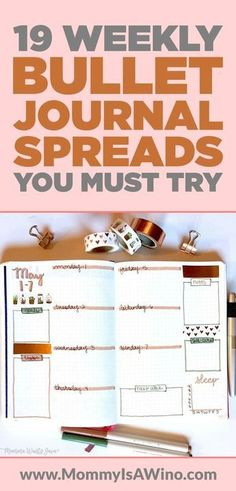 19 Weekly Bullet Journal Spreads You Must Try - Bullet Journal layouts to try today