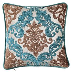 Perfect for bringing retro style to your sofa, settee, or chaise, this vintage-inspired pillow is wrapped in chenille damask.    Product: ...