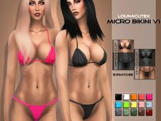 Micro Bikini Set V1 - Lounacutex - The Sims 4 Download - SimsDom