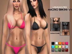 Micro Bikini Set V1 - Lounacutex - The Sims 4 Download - SimsDom