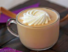 Salted Caramel Milk - instead of hot chocolate! Amazing caramel flavor. From SugarHero.com