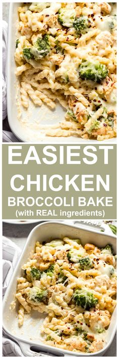 The easiest chicken broccoli pasta bake that your family will LOVE! Made with real ingredients and simple steps. bake Family Night Chicken and Broccoli Pasta Bake Baked Pasta Recipes, Cooking Recipes, Healthy Recipes, Cheap Recipes, Chicken Broccoli Pasta Bake, Pasta Dishes, Dinner Recipes, Family Night, Casseroles