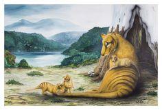 Hartz Mtn Thylacines  18 x 12 Fine Art Print by PlatypusRiver, $39.00