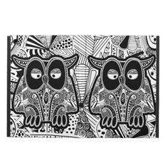 doodle owls iPad Air case