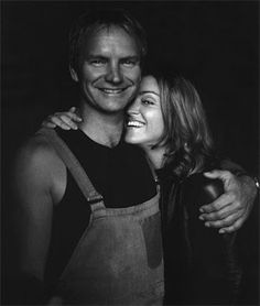 "Madonna & Sting, old time friends ""Don't walk behind me; I may not lead. Don't walk in front of me; I may not follow. Just walk beside me and be my friend."""