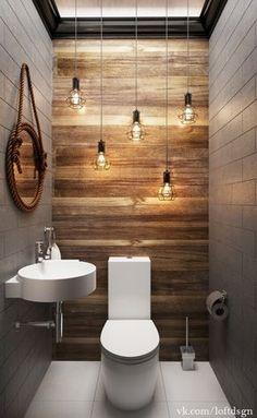 66 epic wood bathroom design ideas with Flare Far - 66 epic wooden bathroom conception ideas with flare far - Small Half Bathrooms, Bathroom Design Small, Amazing Bathrooms, Bath Design, Design Design, Design Trends, Gray Bathrooms, Tan Bathroom, Small Toilet Design