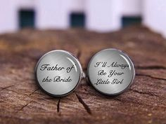 Hey, I found this really awesome Etsy listing at https://www.etsy.com/listing/188007153/personalized-cuff-links-father-of-the