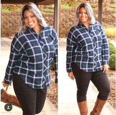 Mad for Plaid $44 Available at www.pinkslateboutique.com Mad, Curvy, Collection, Shirts, Tops, Fashion, Moda, Fasion, Blouses
