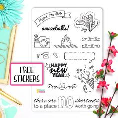 Special Thank You Spread for Early Supporters of my Bullet Journal Sticker & Printables Etsy Shop •••wundertastischdesign.etsy.com