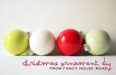 Miss Indie: Christmas DIY // Paint Ornaments