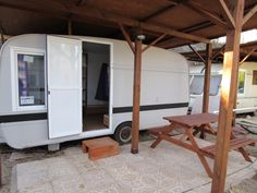 Recently refurbished caravan exterior - at oasis country park - pet friendly campsite in Spain