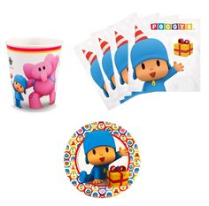 Amazon.com: Pocoyo Birthday Party Supplies Set Plates Napkins Cups Kit for 16: Toys & Games